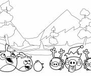Coloring pages Stylized Angry Birds