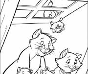 Coloring pages aristocats drawing