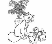 Coloring pages Duchess and her cubs