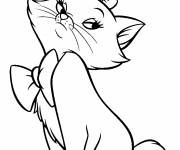 Coloring pages Portrait of Marie Aristocats