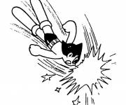 Coloring pages Angry astroboy