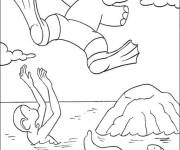 Coloring pages Babar: Alexander and Zephir have fun