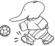 Coloring pages Babar: Alexander plays ball