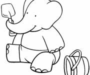 Coloring pages Babar's son