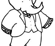 Coloring pages Babar simple