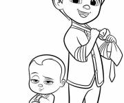 Free coloring and drawings Baby Boss and Tim Coloring page
