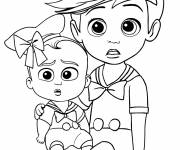 Free coloring and drawings Baby Boss and Tim in color Coloring page