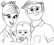 Free coloring and drawings Baby Boss Everyone on stage Coloring page