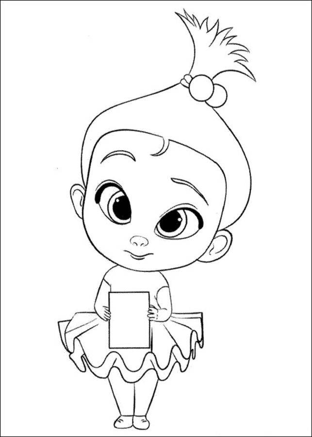Free coloring and drawings Baby Boss Lover Coloring page