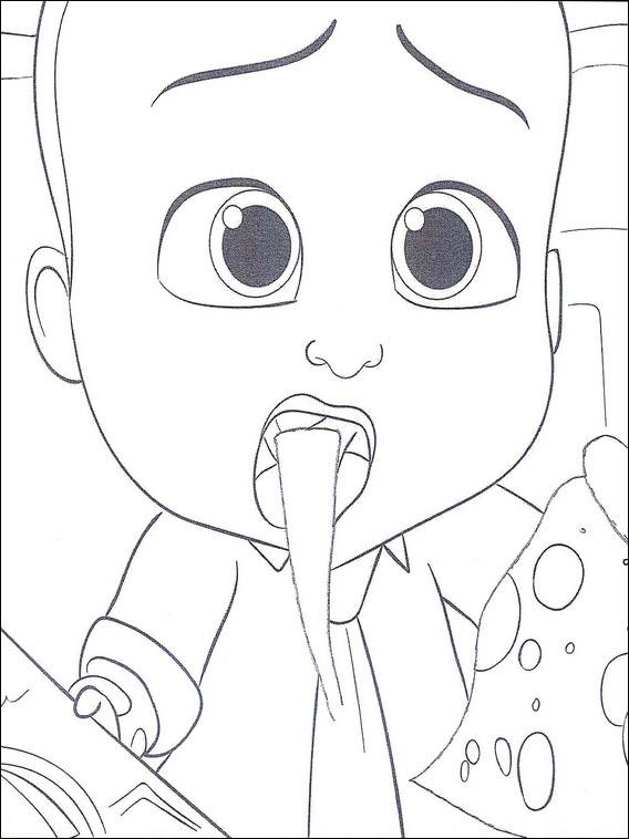 Free coloring and drawings Baby Boss surprised Coloring page