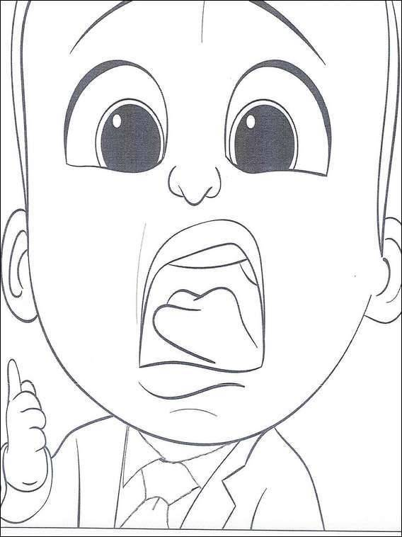 Free coloring and drawings Baby Boss Who Writes Coloring page