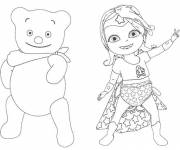 Coloring pages Baby Lilly and her cub