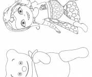 Coloring pages Baby Lilly happy