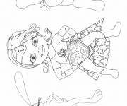 Coloring pages baby lilly to print for free