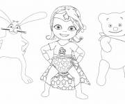 Coloring pages Baby Lilly with her friends