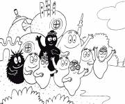 Coloring pages Barbapapas to be colored
