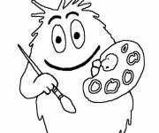 Coloring pages Painted barb