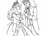 Coloring pages Barbie and her prince