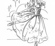 Coloring pages Barbie dancing