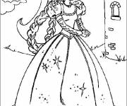 Coloring pages Fairy Barbie online