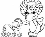 Coloring pages Baby Bop: Barney