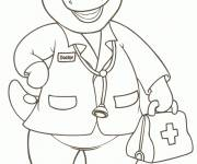 Coloring pages Barney at the doctor's