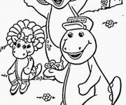 Coloring pages Barney, Bj and Baby Bop