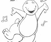 Coloring pages Barney dance