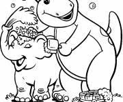 Coloring pages Elephant barney