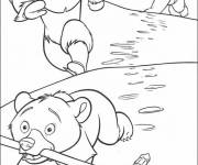 Coloring pages Brother Bear character