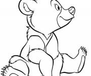 Coloring pages Brother Bear in vector
