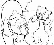 Coloring pages Brother Bear online