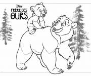 Coloring pages Brother Bear Poster