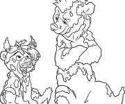 Coloring pages Humorous bear brother