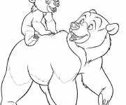 Coloring pages Kenai Bear and his Father