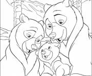 Coloring pages The Little Bear and His Family
