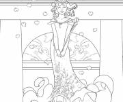 Coloring pages Bella Sara and the world