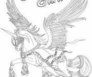 Coloring pages Bella sara flying horse