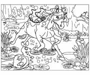 Coloring pages Bella sara in the swamp