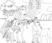 Coloring pages The Bella Sara's horses