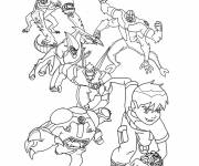 Coloring pages Ben 10 and its transformations