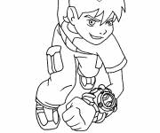 Coloring pages Ben 10 to cut