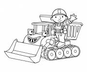 Coloring pages Bob the builder and Muck