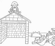Coloring pages Bob the builder building a house