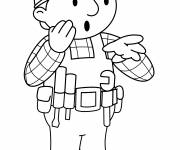 Coloring pages Bob the builder is surprised