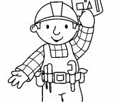 Coloring pages Bob the builder keeps his construction plan