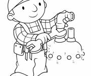 Coloring pages Bob the builder repairing