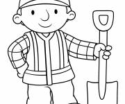 Coloring pages Bob the builder smiles