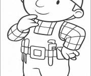 Coloring pages Bob the builder thinking