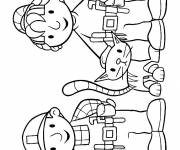 Coloring pages Bob the builder with Zoey